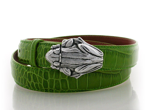 Frog, Sterling Silver Buckle, Lyn Gaylord