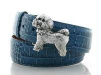 Bichon Frise or Lhasa Apso, Sterling Silver Buckle, Lyn Gaylord