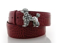 French Poodle, Sterling Silver Buckle, Lyn Gaylord