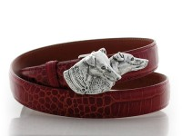 Jack Russells / Fox Terriers / Whippets, Sterling Silver Buckle, Lyn Gaylord