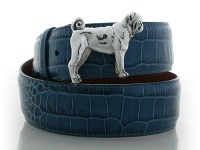 Large Pug, Sterling Silver Buckle, Lyn Gaylord